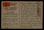 1954 Bowman #3  Jack Scarbath  Back Thumbnail