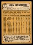 1968 Topps #65  John Roseboro  Back Thumbnail