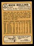 1968 Topps #243  Rich Rollins  Back Thumbnail