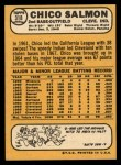 1968 Topps #318  Chico Salmon  Back Thumbnail