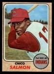1968 Topps #318  Chico Salmon  Front Thumbnail