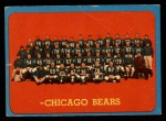 1963 Topps #72   Bears Team Front Thumbnail