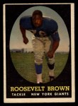 1958 Topps #102  Roosevelt Brown  Front Thumbnail