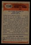 1955 Bowman #10  Pete Pihos  Back Thumbnail