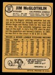 1968 Topps #493  Jim McGlothlin  Back Thumbnail