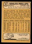 1968 Topps #202  Adolfo Phillips  Back Thumbnail