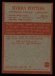 1965 Philadelphia #152  Myron Pottios   Back Thumbnail