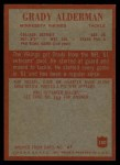 1965 Philadelphia #100  Grady Alderman   Back Thumbnail