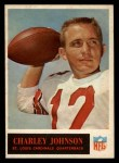 1965 Philadelphia #163  Charley Johnson   Front Thumbnail