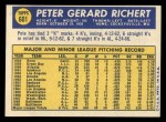 1970 Topps #601  Pete Richert  Back Thumbnail