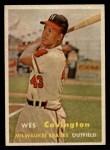1957 Topps #283  Wes Covington  Front Thumbnail