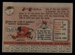 1958 Topps #11 YT Jim Rivera  Back Thumbnail