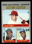 1970 Topps #61   -  Roberto Clemente / Cleon Jones / Pete Rose NL Batting Leaders Front Thumbnail