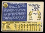 1970 Topps #264  Richie Hebner  Back Thumbnail