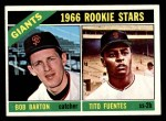 1966 Topps #511   -  Tito Fuentes / Bob Barton Giants Rookies Front Thumbnail