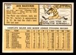 1963 Topps #341 ^WHT^ Jack Baldschun  Back Thumbnail