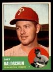1963 Topps #341 ^WHT^ Jack Baldschun  Front Thumbnail
