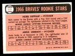 1966 Topps #518   -  Herb Hippauf / Arnie Umbach Braves Rookies Back Thumbnail