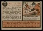 1962 Topps #310  Whitey Ford  Back Thumbnail