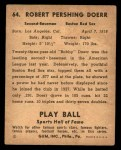 1941 Play Ball #64  Bobby Doerr   Back Thumbnail