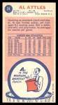 1969 Topps #24  Al Attles  Back Thumbnail