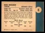 1961 Fleer #6  Bob Boozer  Back Thumbnail