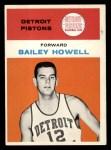 1961 Fleer #20  Bailey Howell  Front Thumbnail