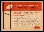 1961 Fleer #143  Gene Grabosky  Back Thumbnail