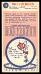 1969 Topps #60  Willis Reed  Back Thumbnail