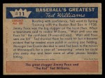 1959 Fleer #11   -  Ted Williams  1st Spring Training Back Thumbnail