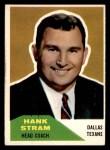 1960 Fleer #116  Hank Stram  Front Thumbnail