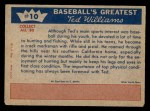 1959 Fleer #10   -  Ted Williams  Gunning as a Pastime Back Thumbnail