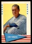1961 Fleer #27  Lew Fonseca  Front Thumbnail
