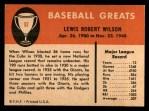 1961 Fleer #87  Hack Wilson  Back Thumbnail