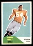 1960 Fleer #70  Don Hit  Front Thumbnail