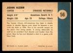 1961 Fleer #56   -  John Kerr In Action Back Thumbnail