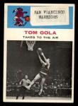 1961 Fleer #51   -  Tom Gola In Action Front Thumbnail