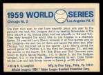 1970 Fleer World Series #56   -  Chuck Essegian 1959 Dodgers vs. White Sox   Back Thumbnail