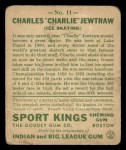 1933 Goudey Sport Kings #11  Charles Jewtraw   Back Thumbnail