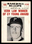 1961 Nu-Card Scoops #406   Vern Law   Front Thumbnail