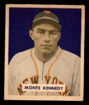 1949 Bowman #237  Monte Kennedy  Front Thumbnail