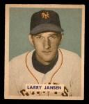 1949 Bowman #202  Larry Jansen  Front Thumbnail