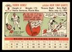 1956 Topps #9  Ruben Gomez  Back Thumbnail