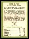1963 Fleer #62  Gene Oliver  Back Thumbnail