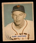 1949 Bowman #154  Clint Hartung  Front Thumbnail