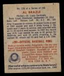 1949 Bowman #126 PRT Al Brazle  Back Thumbnail
