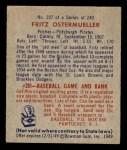 1949 Bowman #227  Fritz Ostermueller  Back Thumbnail