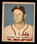 1949 Bowman #213  Red Barrett  Front Thumbnail