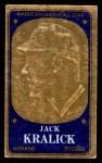 1965 Topps Embossed #72   Jack Kralick   Front Thumbnail