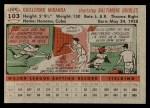 1956 Topps #103 GRY Willie Miranda  Back Thumbnail